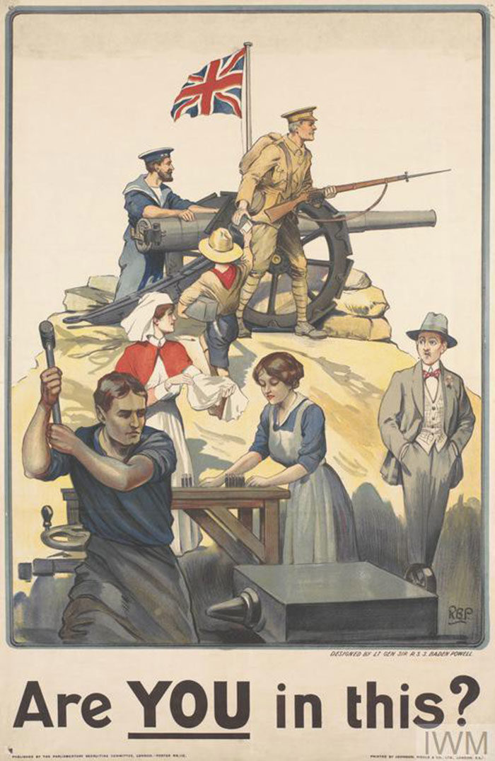 Are-You-in-This-700x1075 WW1 Posters: Recruitment and propaganda posters from the first world war