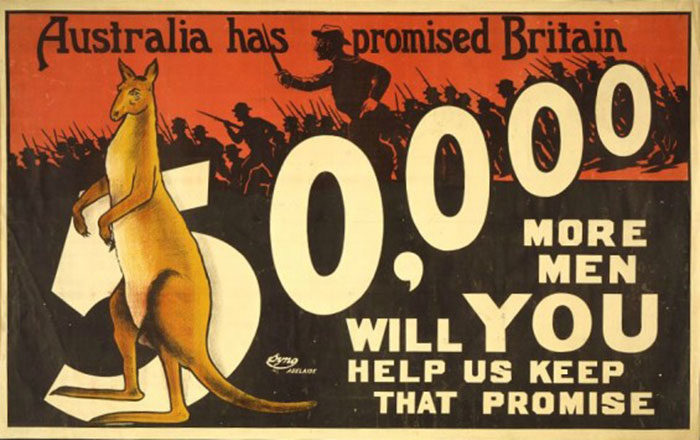 Australia-700x440 WW1 Posters: Recruitment and propaganda posters from the first world war