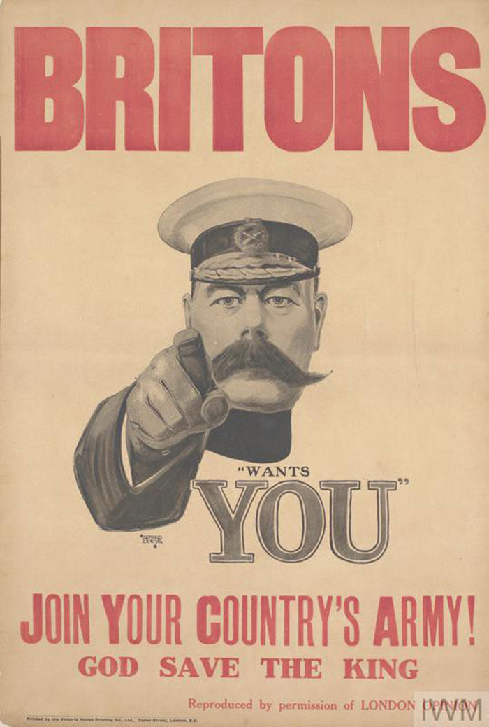 Britons-Join-Your-Countrys-Army-700x1039 WW1 Posters: Recruitment and propaganda posters from the first world war