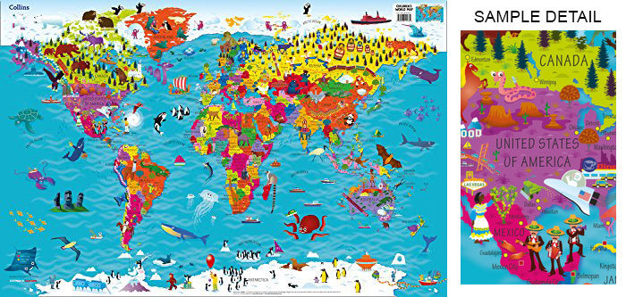 World Map Poster Examples For Passionate Travelers