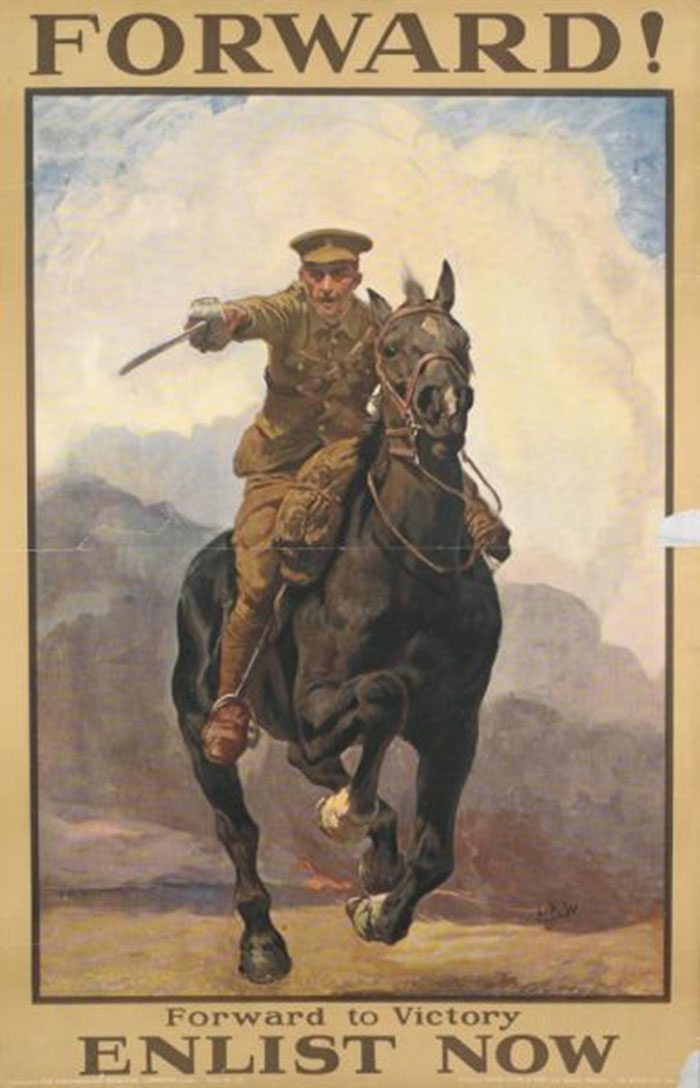 FORWARD-700x1088 WW1 Posters: Recruitment and propaganda posters from the first world war