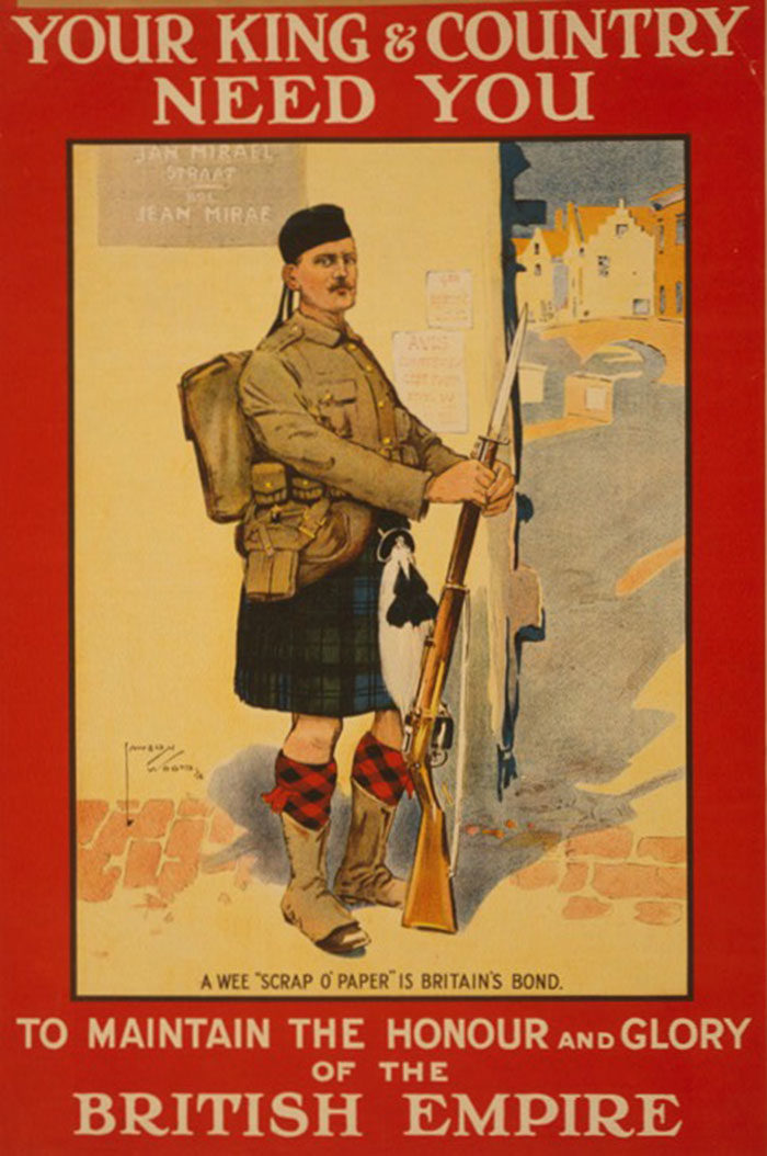 Ireland-Scotland-700x1054 WW1 Posters: Recruitment and propaganda posters from the first world war