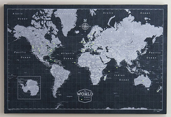 World Map Poster Examples For Pionate Travelers on