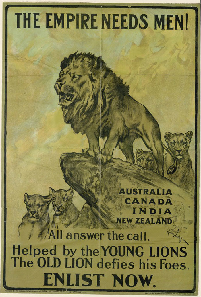 National-Symbolism-700x1036 WW1 Posters: Recruitment and propaganda posters from the first world war