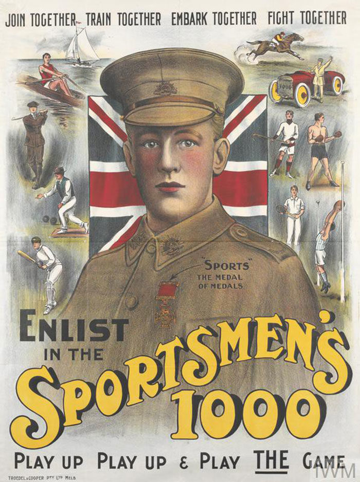 Sportsmens-One-thousand-700x938 WW1 Posters: Recruitment and propaganda posters from the first world war