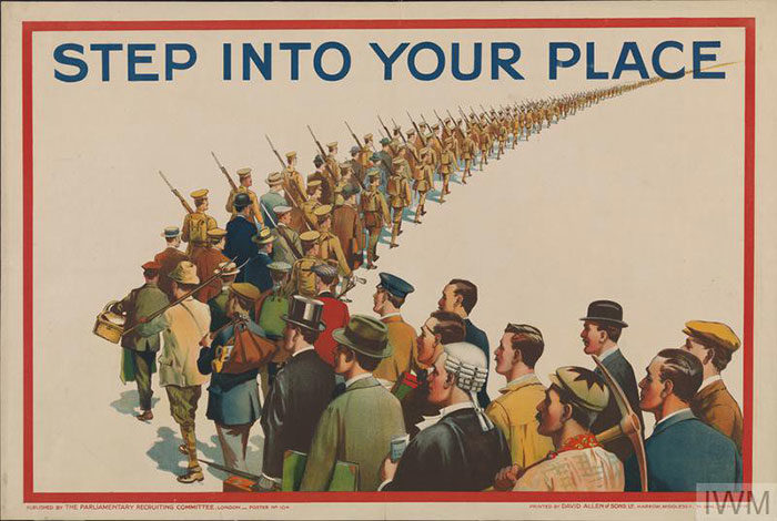Step-Into-Your-Place-700x470 WW1 Posters: Recruitment and propaganda posters from the first world war