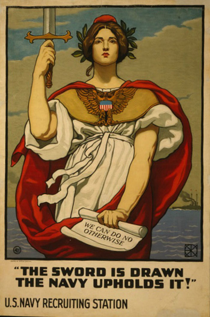 The-Navy-700x1058 WW1 Posters: Recruitment and propaganda posters from the first world war