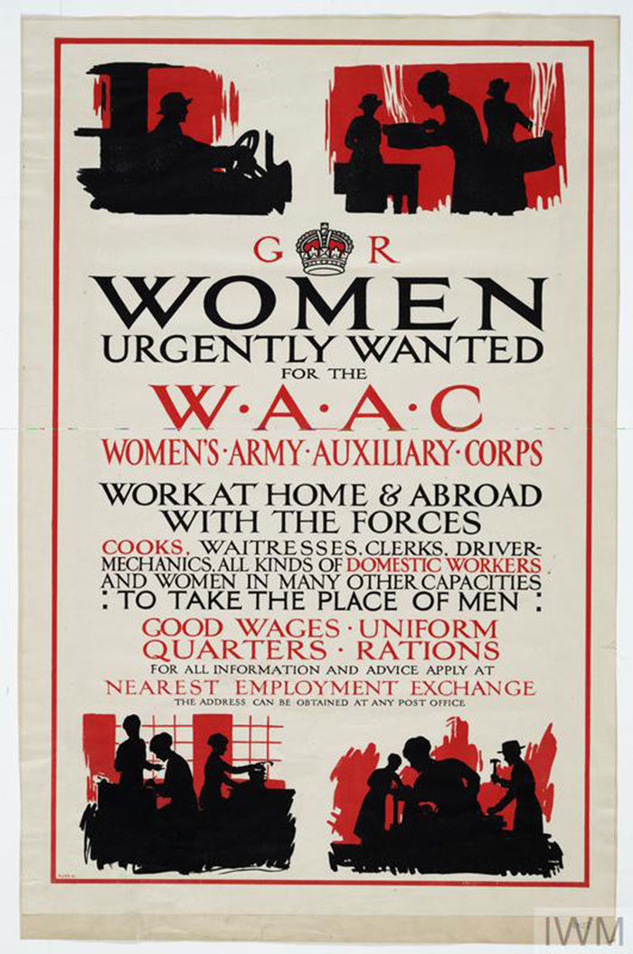 WOMEN-URGENTLY-WANTED-FOR-THE-WAAC-700x1055 WW1 Posters: Recruitment and propaganda posters from the first world war