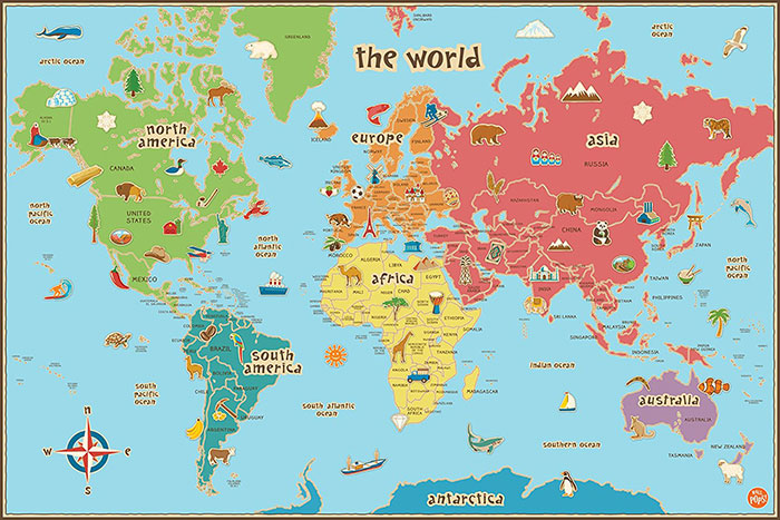 scratch map south africa World Map Poster Examples For Passionate Travelers scratch map south africa