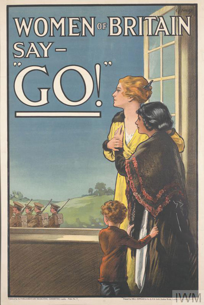 Women-of-Britain-say-Go-700x1049 WW1 Posters: Recruitment and propaganda posters from the first world war