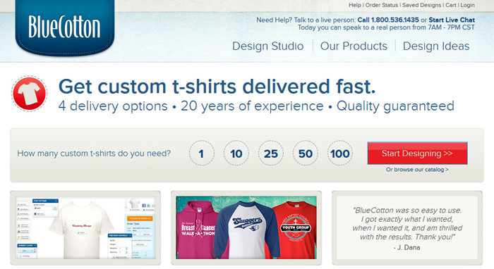 bluecotton-700x382 Where to sell T-Shirts online: The go-to sites