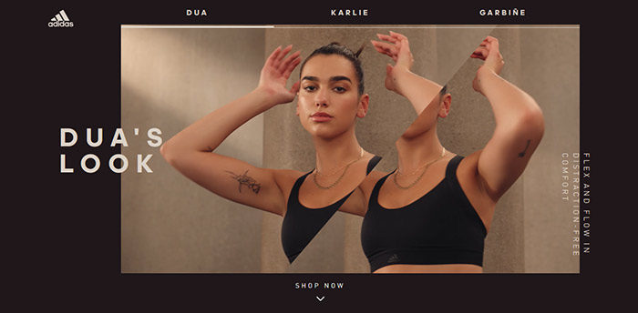 fashion-01-700x344 Website design inspiration: business websites, one-page, parallax sites, and more