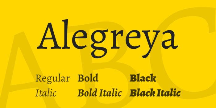 Alegreya-700x350 Google font pairings: Font combinations that look good