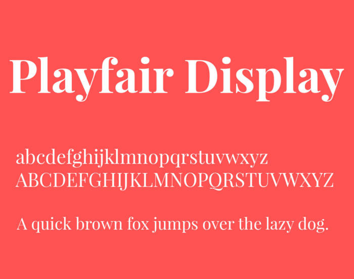 Playfair-Display-700x551 Google font pairings: Font combinations that look good