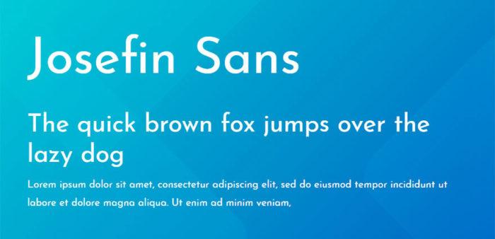 josefin-sans-700x338 Google font pairings: Font combinations that look good