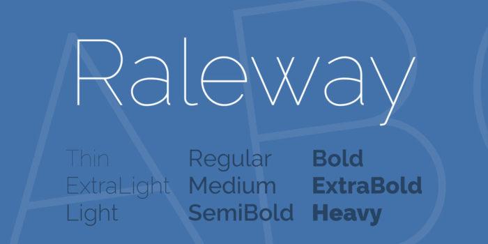 raleway-font-700x350 Google font pairings: Font combinations that look good
