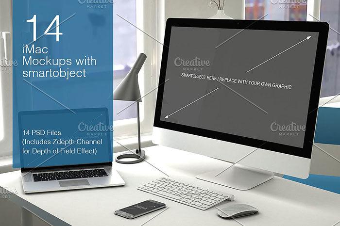 14poses-700x466 iMac Mockup Collection: Free and Premium Computer Mockups (PSD)