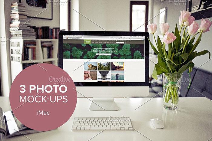 3xreal-700x466 iMac Mockup Collection: Free and Premium Computer Mockups (PSD)