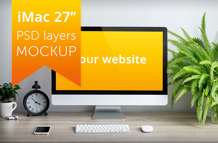 iMac Mockup Collection: Free and Premium Computer Mockups (PSD)