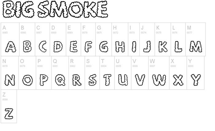 the best free smoke font examples for creative designs