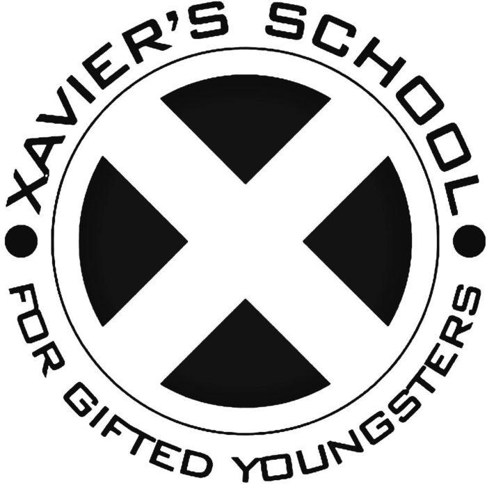 X-Men-Xaivers-School-Decal-Sticker-700x700 Superhero logos:The symbols of the comic book universe
