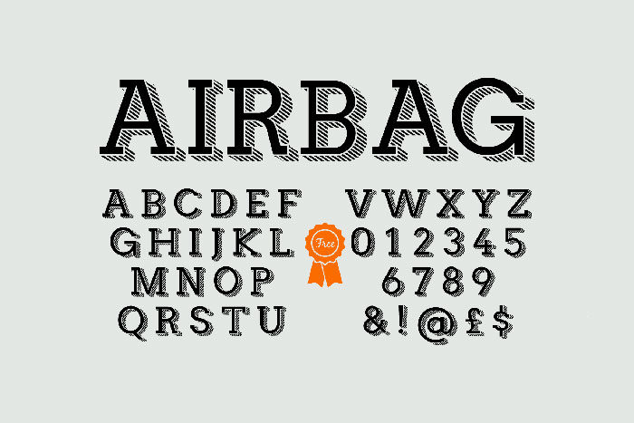 airbag-700x467 Free Cute Fonts to Use in Your Thematic Designs