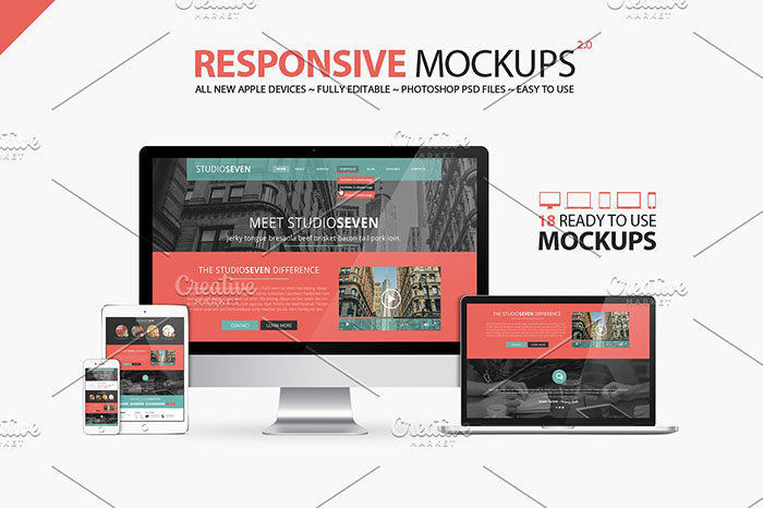 all-new-responsive-mockups--700x466 iMac Mockup Collection: Free and Premium Computer Mockups (PSD)