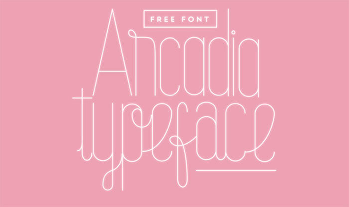 arcadia-700x415 Free Cute Fonts to Use in Your Thematic Designs