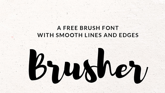brusher-700x394 Free Cute Fonts to Use in Your Thematic Designs