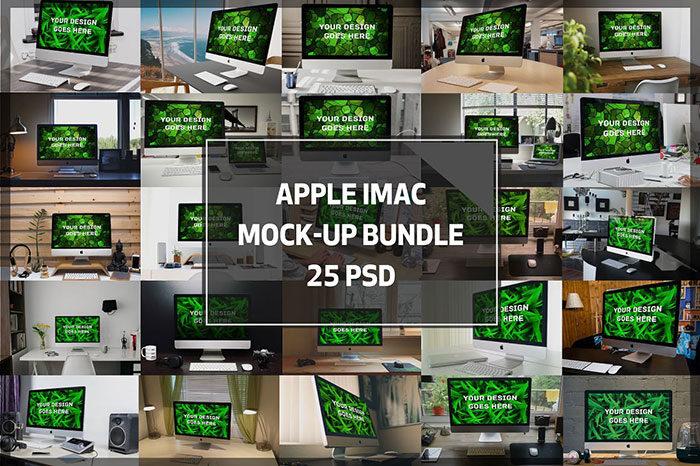 bundle-700x466 iMac Mockup Collection: Free and Premium Computer Mockups (PSD)