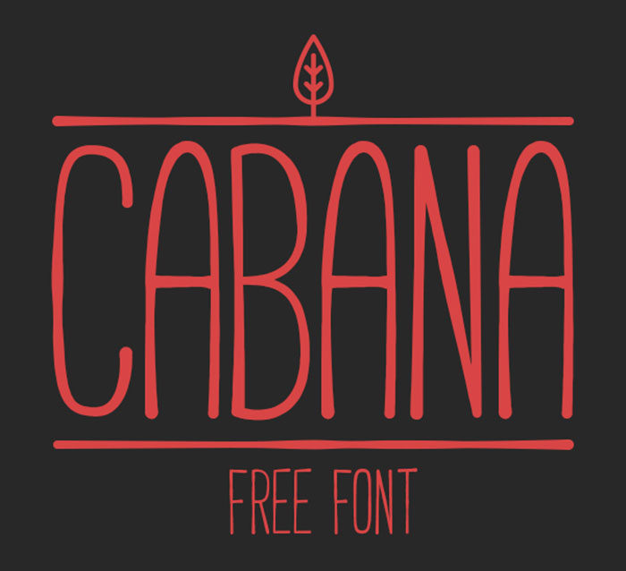 cabana-700x638 Free Cute Fonts to Use in Your Thematic Designs