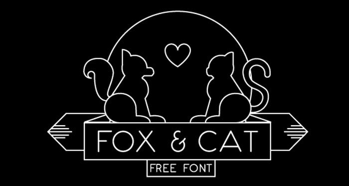 foxncat-700x373 Free Cute Fonts to Use in Your Thematic Designs