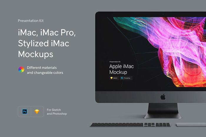 imac--700x467 iMac Mockup Collection: Free and Premium Computer Mockups (PSD)