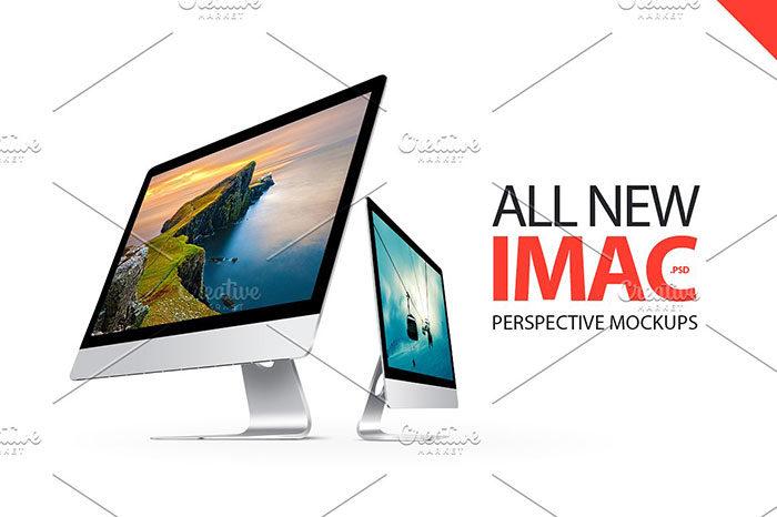 imac-perspective-mockups--700x466 iMac Mockup Collection: Free and Premium Computer Mockups (PSD)