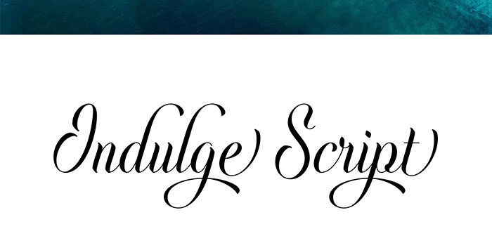 indulge-script-700x326 Free Cute Fonts to Use in Your Thematic Designs