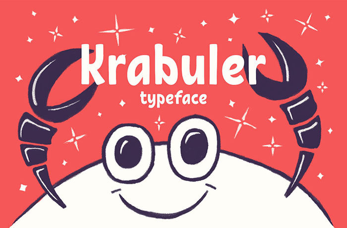 krabuler-700x460 Free Cute Fonts to Use in Your Thematic Designs