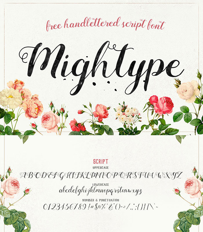 mighttype-700x800 Free Cute Fonts to Use in Your Thematic Designs