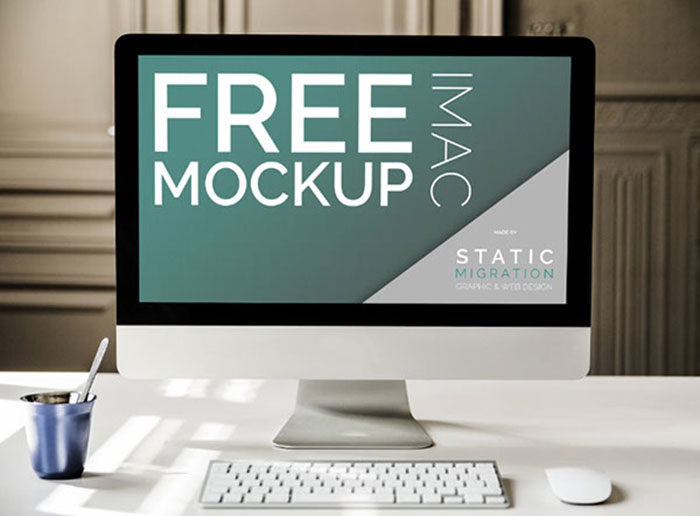 minimal-700x516 iMac Mockup Collection: Free and Premium Computer Mockups (PSD)