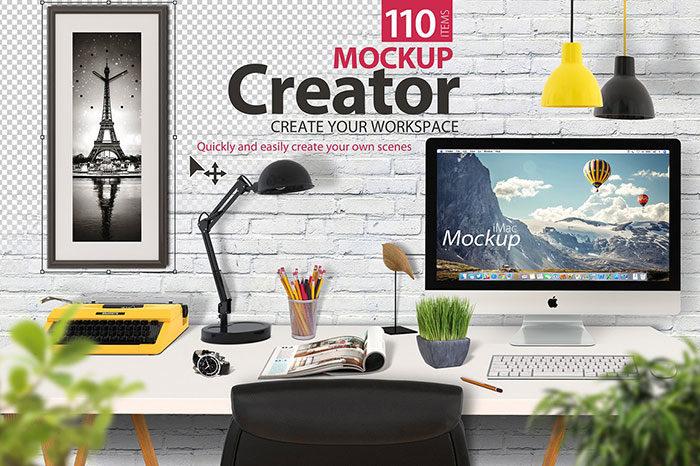 mockupcreator-700x466 iMac Mockup Collection: Free and Premium Computer Mockups (PSD)