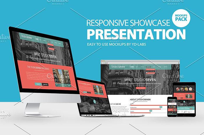 reponsiveshowcase-700x466 iMac Mockup Collection: Free and Premium Computer Mockups (PSD)
