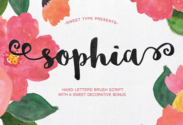 sophia-700x478 Free Cute Fonts to Use in Your Thematic Designs