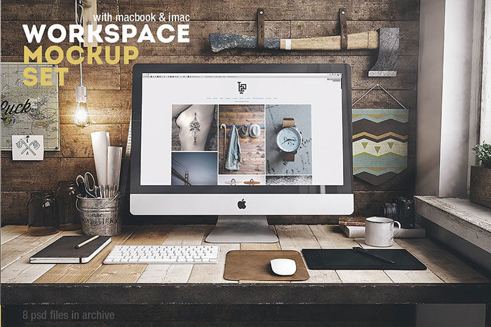 workplace-700x466 iMac Mockup Collection: Free and Premium Computer Mockups (PSD)