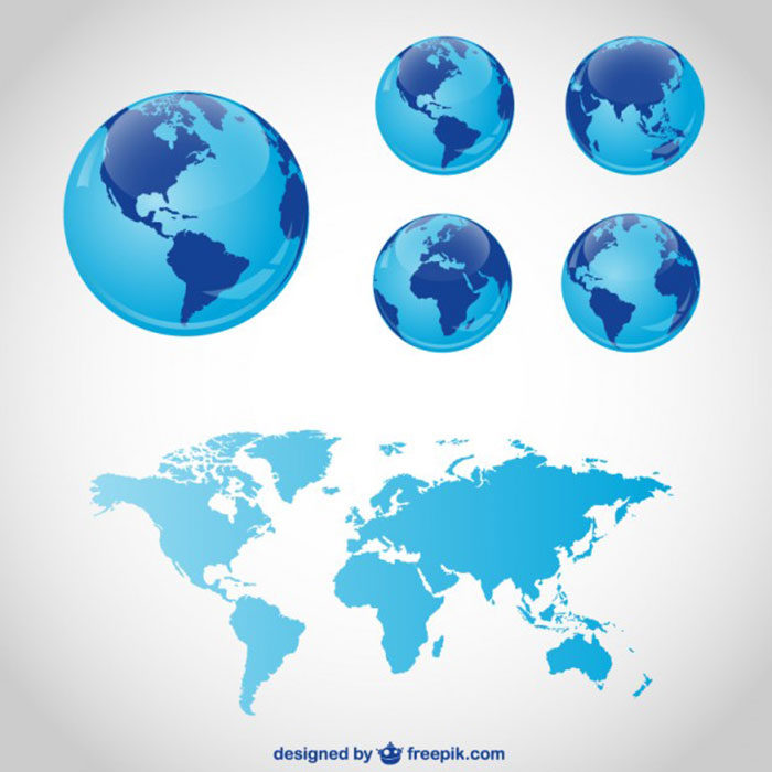 3D-World-Map-700x700 World map vector graphics you can download with a few clicks