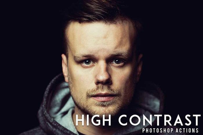 50-High-Contrast-Portrait-Photoshop-Actions-700x466 Photoshop actions for portraits that you can download now