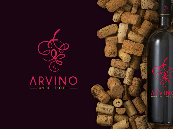 Arvino Wine logo design: How to create stylish wine logos