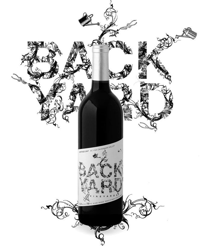 Backyard Wine logo design: How to create stylish wine logos