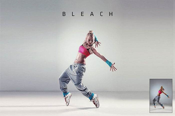 Bleach-Action-700x466 Photoshop actions for portraits that you can download now