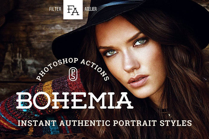 Bohemia-Photoshop-Actions-700x466 Photoshop actions for portraits that you can download now