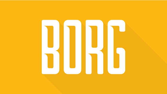Borg Download these futuristic fonts and create awesome typography designs