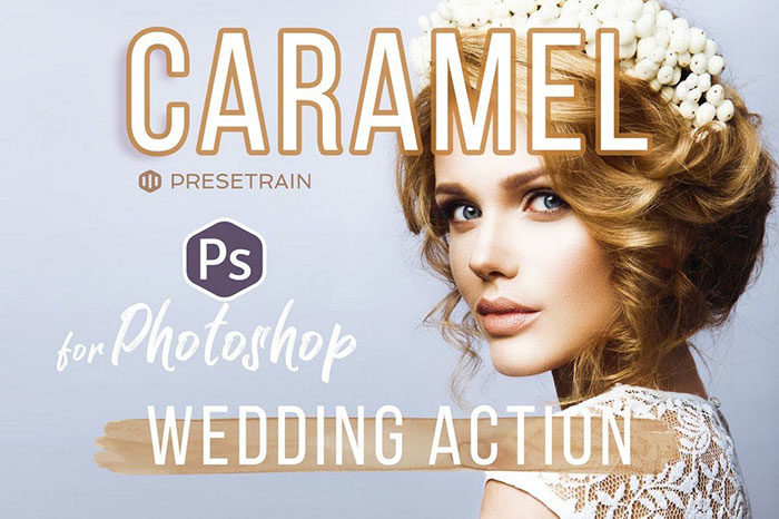 Caramel-Wedding-Photoshop-Action-700x466 Photoshop actions for portraits that you can download now